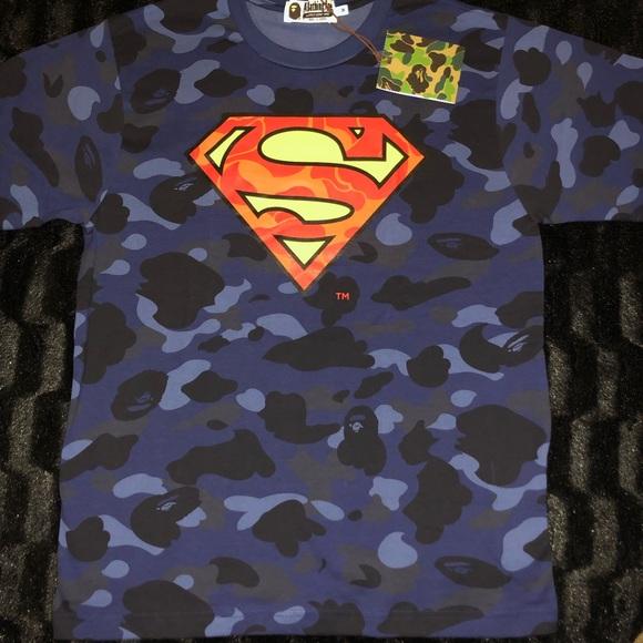 535e1fbbfc80 Bape Shirts | X Dc Comics Superman Tee Supreme | Poshmark